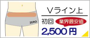 福岡県飯塚でVライン脱毛は地域最安値の初回料金2,500円からご利用いただけます。