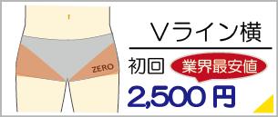 福岡県飯塚でVライン横脱毛は地域最安値の初回料金2,500円からご利用いただけます。