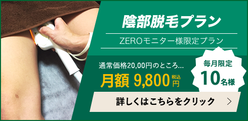 Oラインをお得に脱毛するなら、月額陰部脱毛(VIO脱毛)は地域最安値の9,800円