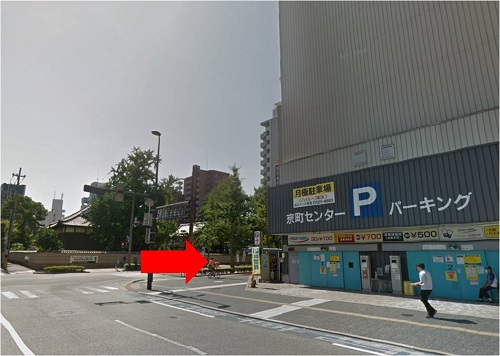 メンズ脱毛 小倉店道案内 「京町センターパーキングを右折」