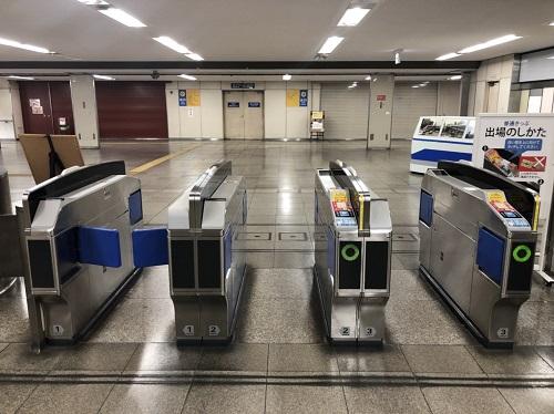 平和通駅改札-平和通駅からゼロ小倉