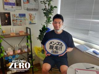 メンズ脱毛アンケートお写真 福岡市赤坂 職業 自営業 メンズ脱毛ZERO博多薬院店
