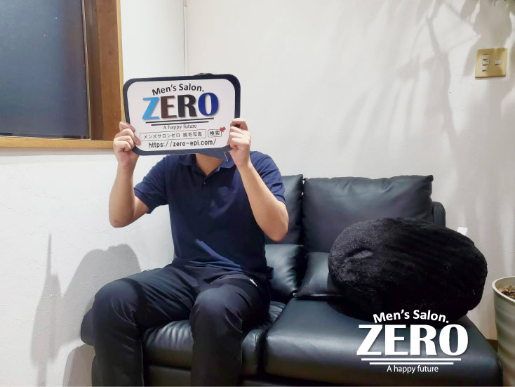ZERO長崎諫早店「メンズ脱毛お客様写真Voice87」島原市 24歳 学校教員 ヒゲ脱毛と足脱毛の効果が実感できて通うのが楽しい!
