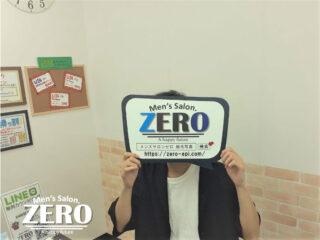 ZERO博多店「ヒゲ脱毛お客様写真Voice115」福岡県 22歳「ヒゲ脱毛でコンプレックス解消!」